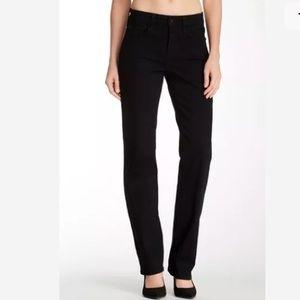 NYDJ Marilyn Straight Leg Black Size 2